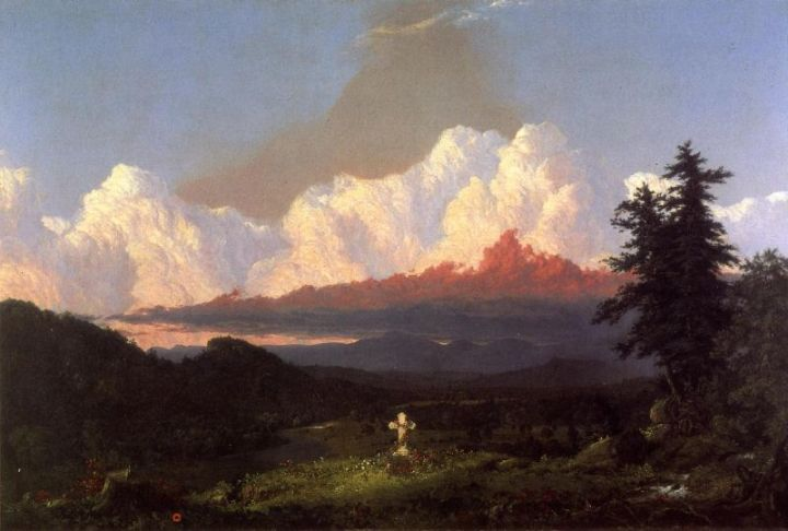 0 Frederic Edwin Church, To the Memory of Cole, 1848, private collex