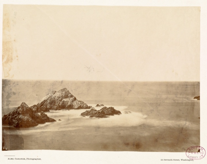 1 Alexander Gardner, Seal Rocks... Last scene of all in this strange, eventful history., 1868-69, BPL 1500