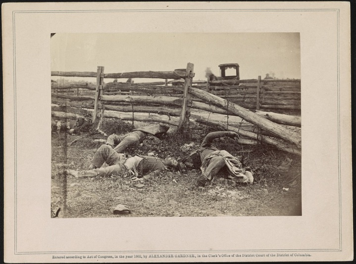 1 Alexander Gardner, View on battlefield of Antietam, 1862, LOC