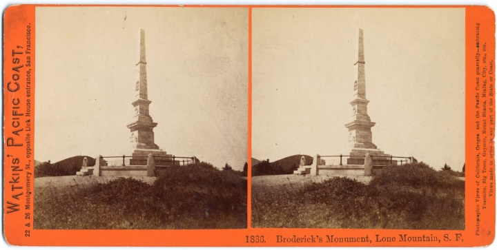 1 CEW, Broderick's Monument, ca 1861-63, CSL 1500