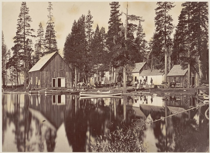 1 CEW, Independence Lake House, Foot of the Trail to Mt. Lola, 1879, BANC