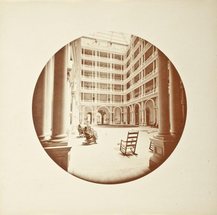 1 CEW, Interior Court, Palace Hotel, SF, ca 1876, LACMA