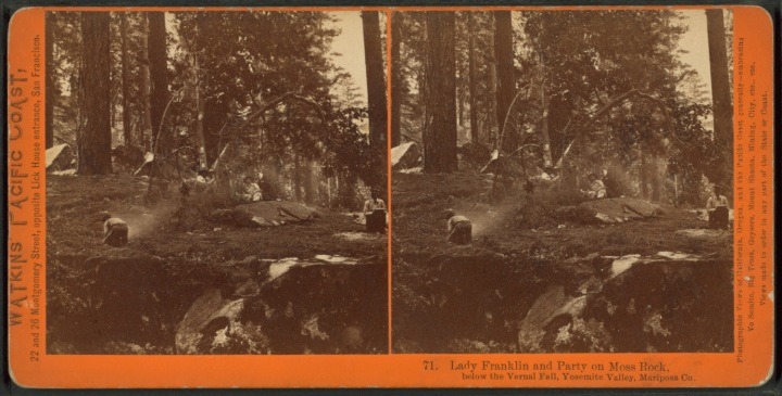1 CEW, Lady Franklin and her Party (near the foot of the Vernal Fall), 1861, NYPL