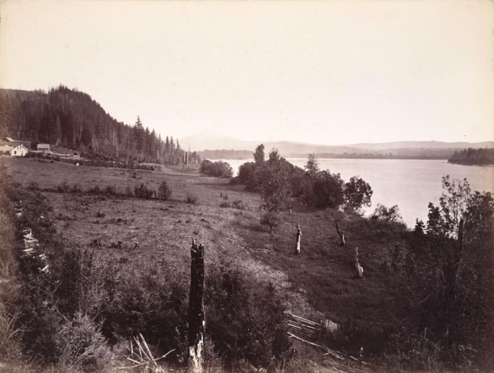 1 CEW, Mount Hood from near Government Island, Columbia River, Oregon, 1867, SFMOMA