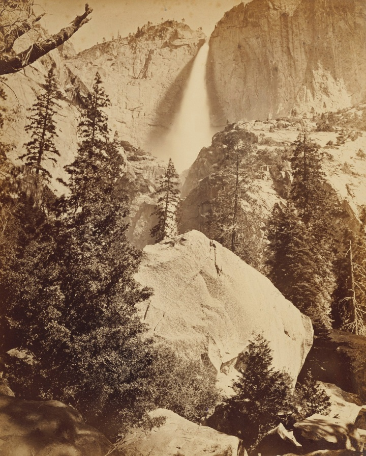 10 CEW, Upper Yosemite Fall, 1865-66, JPGM 1200
