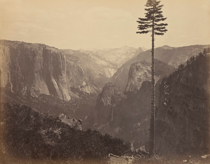 10 CEW, Yosemite Valley from the BEst General View, 1865-66, JPGM 1500