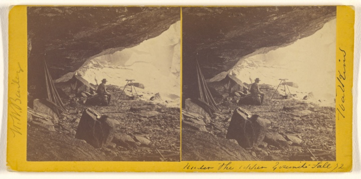 11 CEW, Under the Upper Yosemite Fall, 1861, JPGM