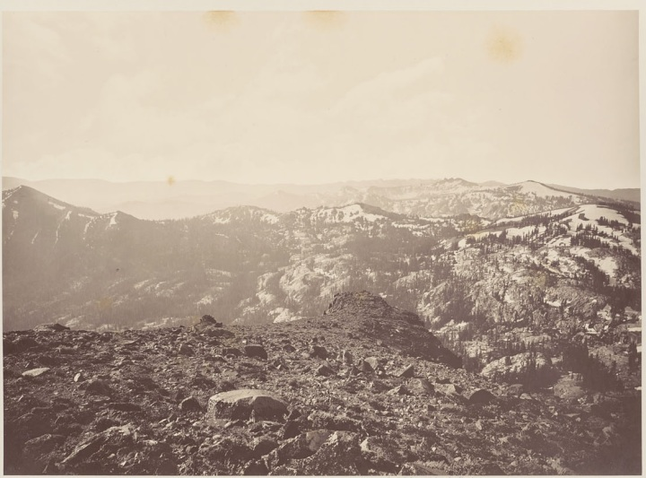 11 CEW, View from Mt. Lola Looking toward Lake Tahoe, 1879, BANC
