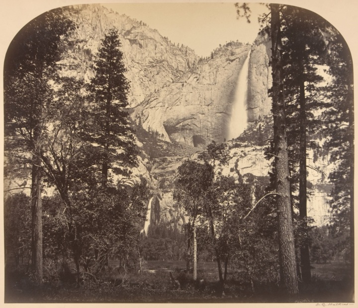 11CEW, Yosemite Falls from the Upper House, 1861, Met 1500