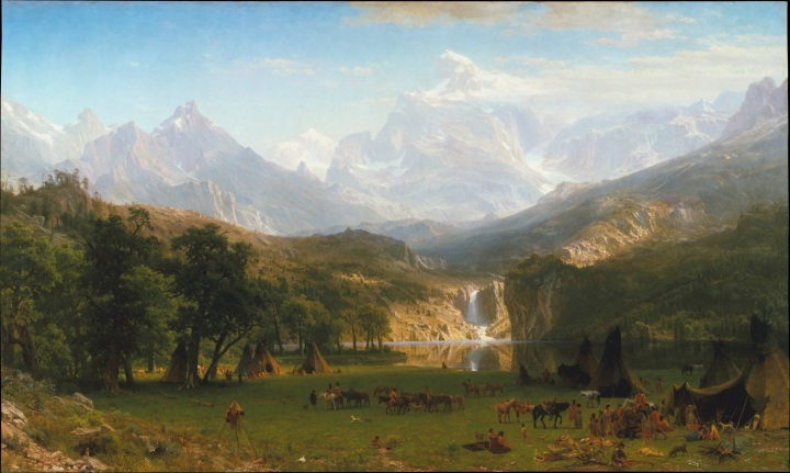 12 Albert Bierstadt, The Rocky Mountains, Lander's Peak, 1863, Met 1500