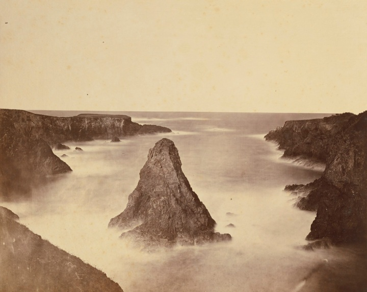 12 CEW, A Coast View, Rocks (No. 1), 1863, JPGM 1500