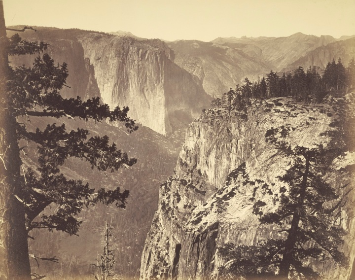 12 CEW, First View of the Valley from the Mariposa Trail, 1865-66,JPGM 1500