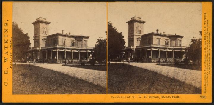 12 CEW, Residence of Mr. W.E. Barron, Menlo Park, ca 1865-76, NYPL 1500