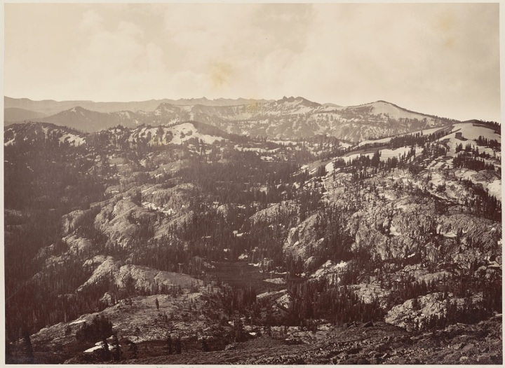 12 CEW, View from Mt. Lola Looking Toward Round Top (2), 1879, BANC