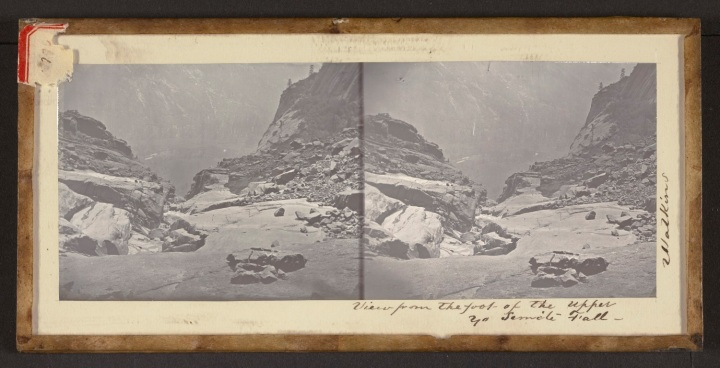 12 CEW, View from the foot of the Upper Yo Semite Fall, 1861, JPGM 1500
