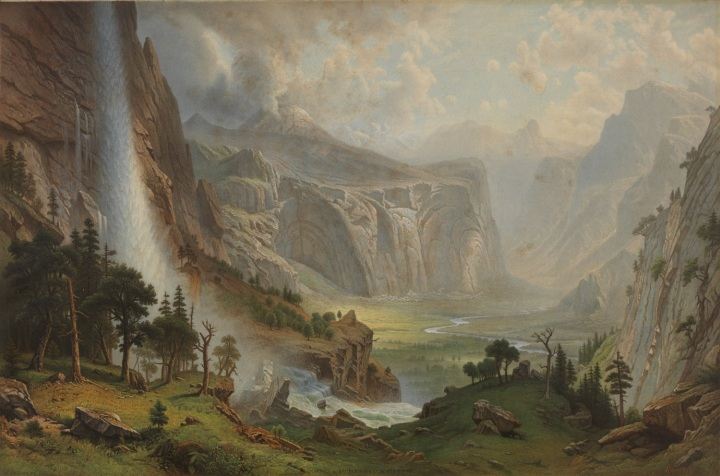 12 JJ Dillman (lithographer), after The Domes of Yosemite (Bierstadt), ca. early 1870s, BANC 1500