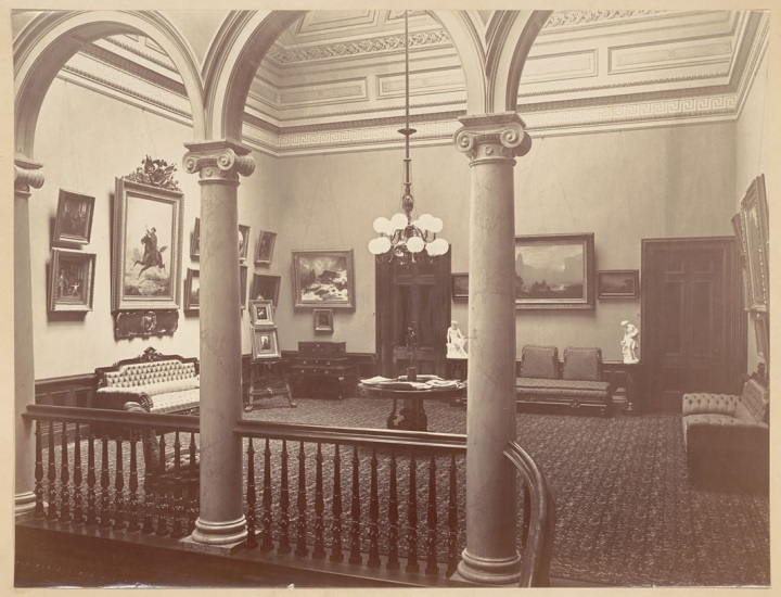 12b, CEW, Upstairs Gallery, Millbrae, ca. 1865-76, BANC