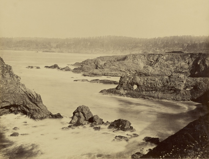 13 CEW, A Coast View, Rocks (No. 2), Mendocino, 1863, JPGM 1500