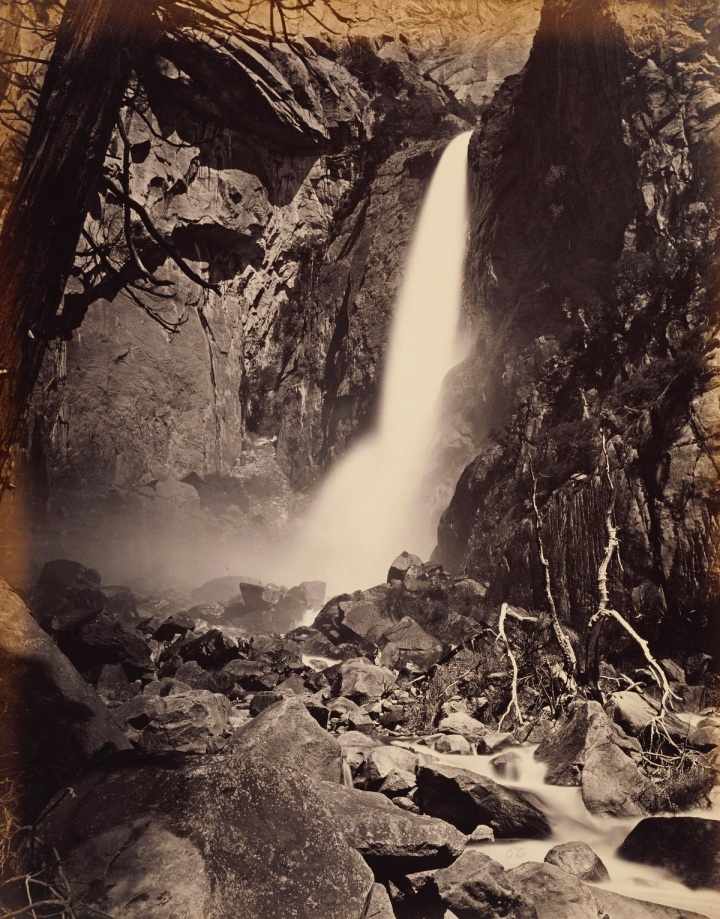 13 CEW, Lower Yosemite Fall, 1865-66, JPGM 1200