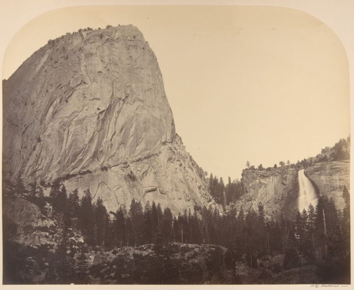 13 CEW, Mount Broderick and Nevada Fall, Yosemite, 1861, Met 1500