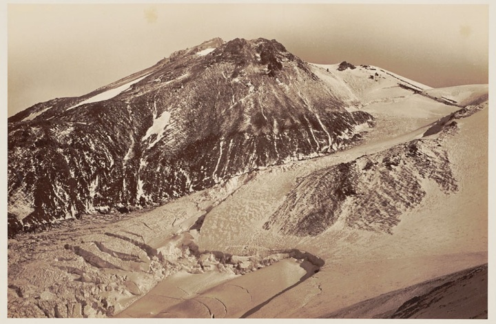 13 CEW, Summit of Shasta from Shastina with Whitney Glacier, 1870, BANC