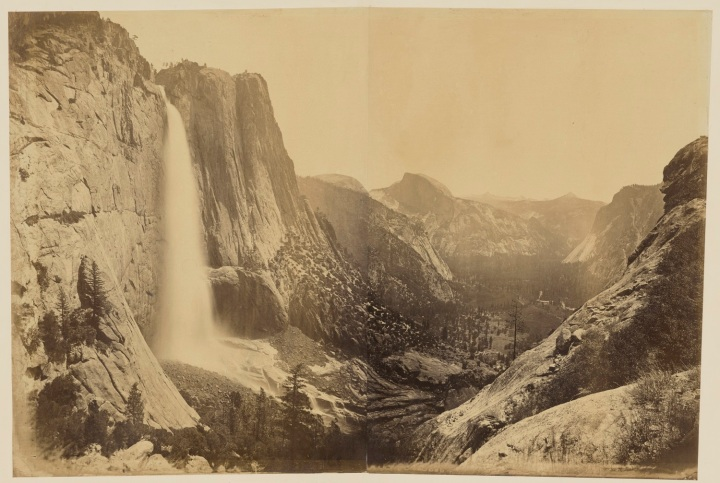 13 CEW Upper Yosemite Valley, View from the Eagle Point Trail, ca 1878-81, JPGM 1500