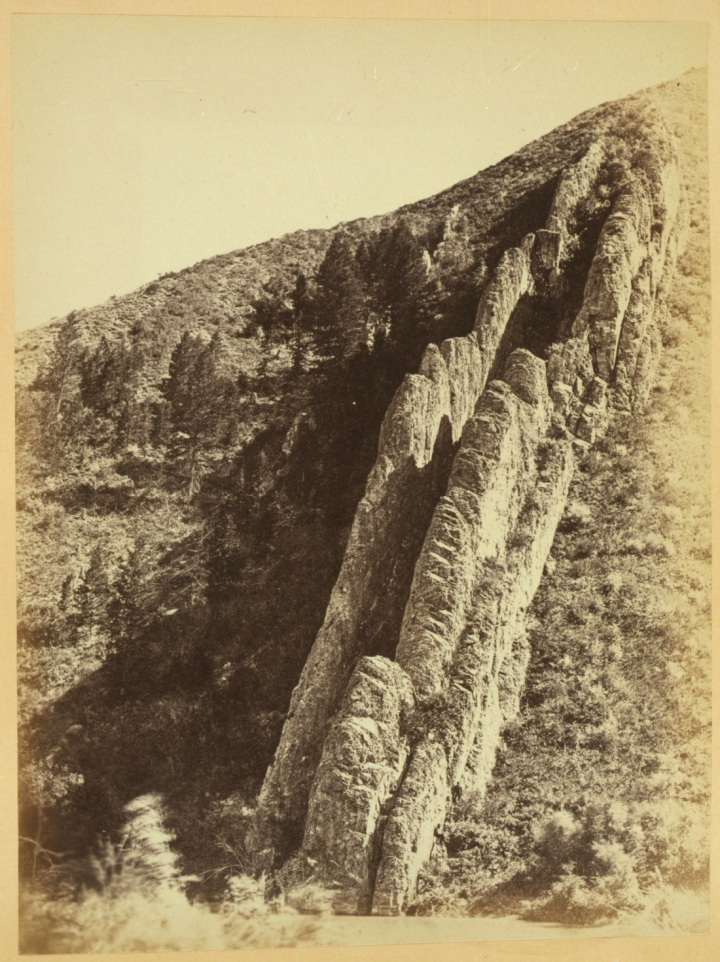 14 Andrew J. Russell, Serrated rocks or Devil's Slide (near view) - Weber Cañon, Utah, 1868, LOC 1100