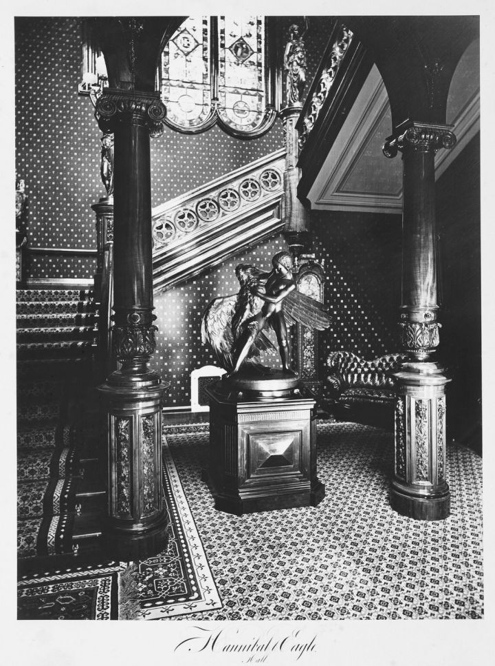 14 CEW, Interior of Thurlow Lodge [Milton Latham's Residence], San Mateo County, 1874. Collection of the Canadian Centre for Architecture