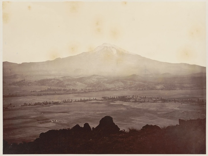 14 CEW, Mount Shasta [from a distance of 18 miles], ca 1867, BANC