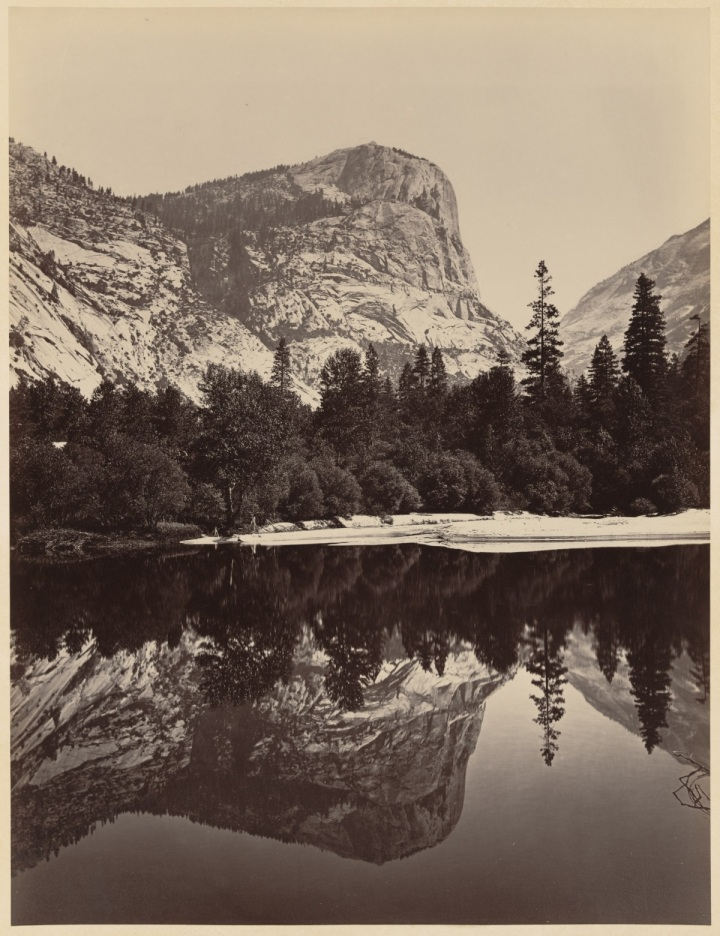 14 CEW, Mount Watkins, Fully Reflected in Mirror Lake, Yosemite, 1865-66, LOC 1200
