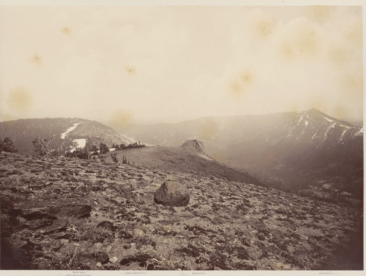14 CEW View from Mt Lola (A), 1879, BANC