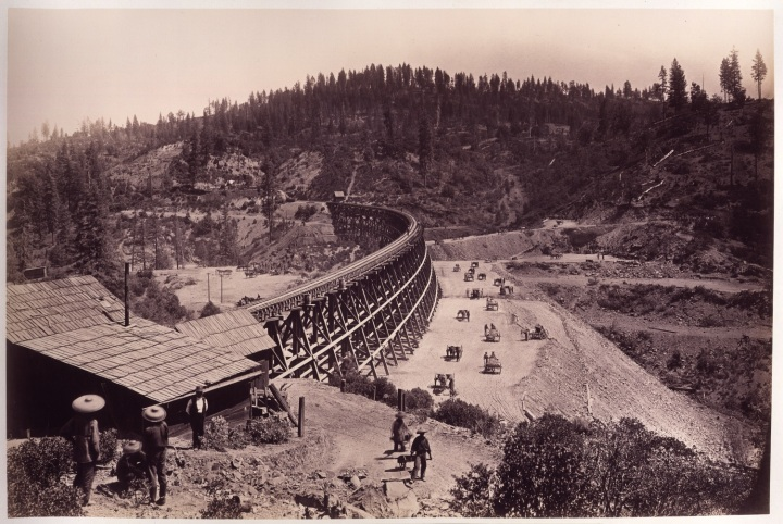 15 CEW, The Secret Town Trestle, CPRR, Placer County, Calif., 1876, HEH 1500