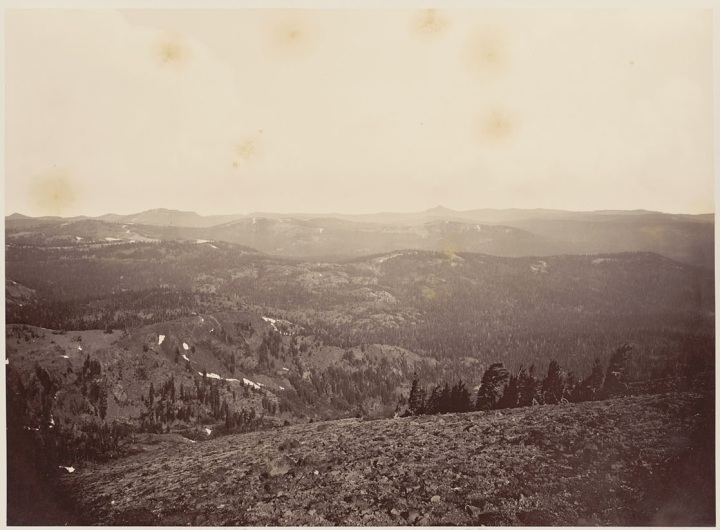 15 CEW View from Mt Lola (B), 1879, BANC