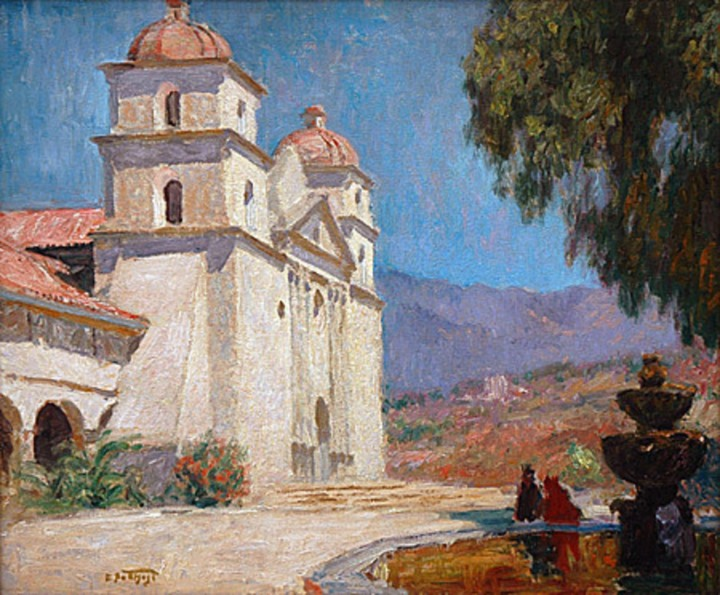 15 Edward Potthast, Santa Barbara Mission, ca. 1905, private collex