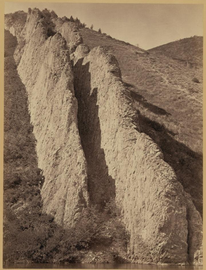15 Timothy O'Sullivan, Devil's Slide, Utah Territory, 1869, LOC 1100