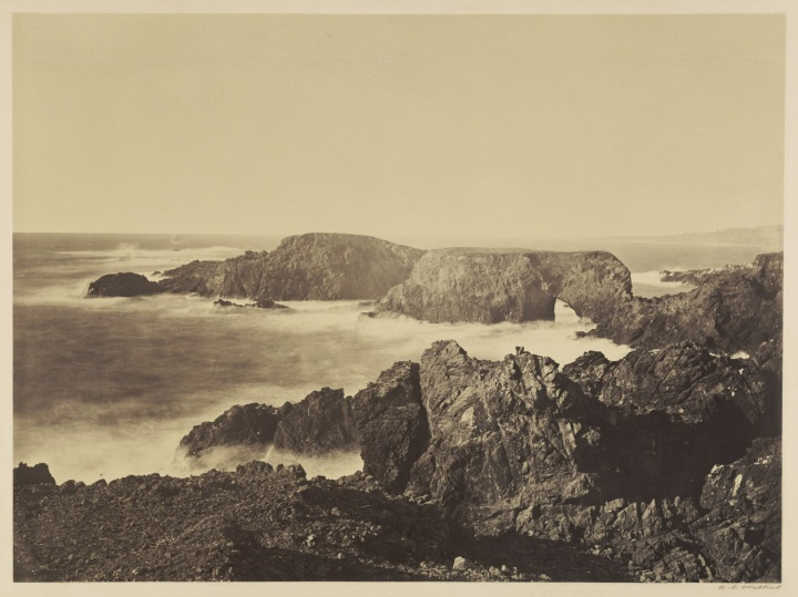 16, CEW, A Coast View, Pebble Beach (No. 5), Mendocino, 1863, JPGM 1500