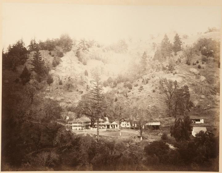 16 CEW, Geyser Hotel, The Geysers, Sonoma County, ca 1867, CSL 1500