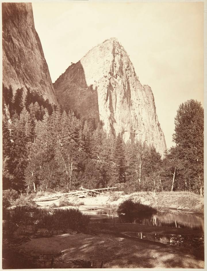 16 CEW, Lower Cathedral Rock, Yosemite, 1865-66, CSL 1200