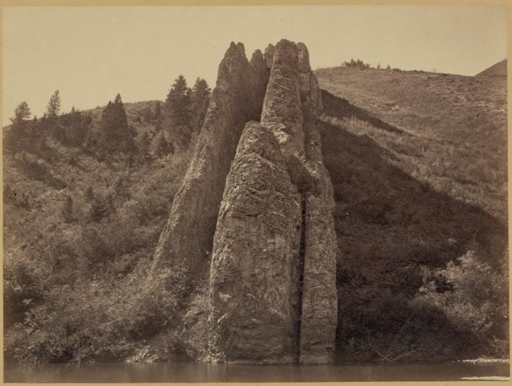 16 Timothy O'Sullivan, Devil's Slide, Utah, 1869, LOC 1500