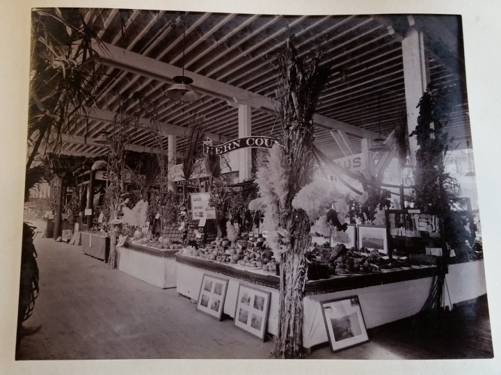 17 CEW, Kern County marketing display, unknown location, ca. 1887-89, unidentified collection 1500