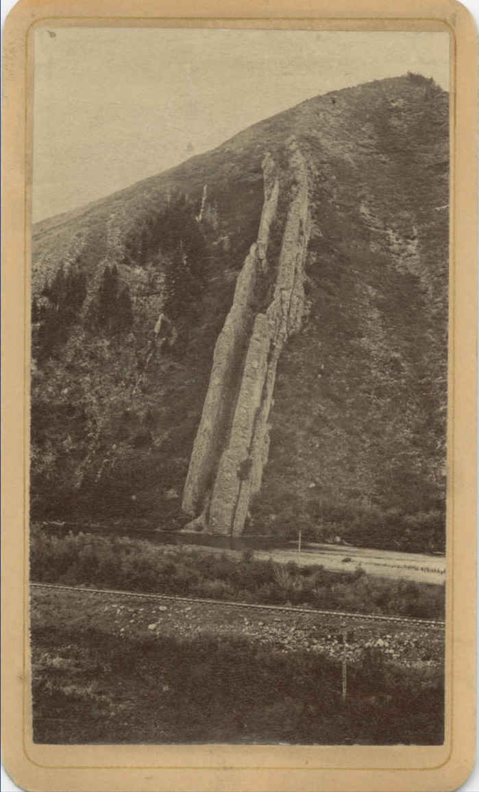 17 Charles R. Savage, View of Devil's Slide from Union Pacific railroad, ca. 1870, BYU Library