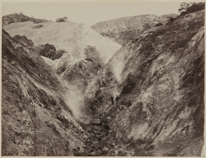18 CEW, Devil's Canyon, The Geysers, Sonoma County, ca 1867, LOC 1500