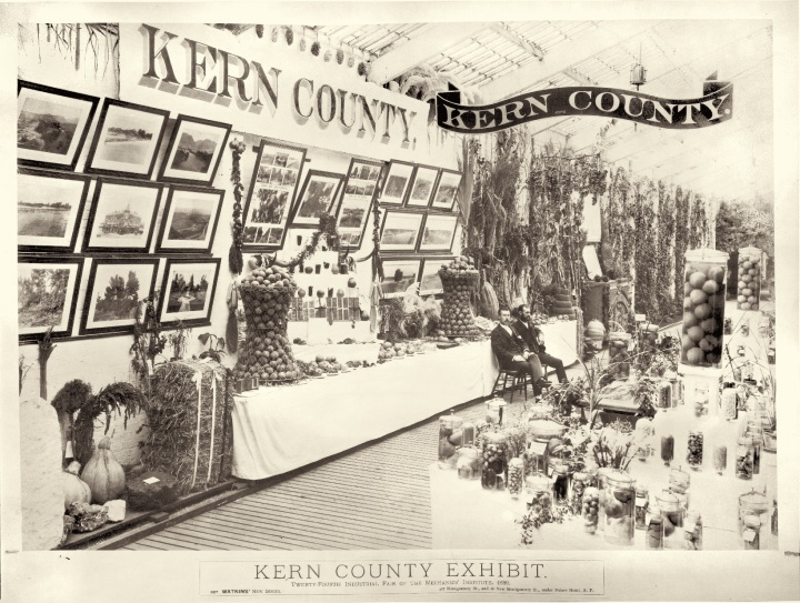 18 CEW, Kern County Exhibit at the 1889 Mechanics' Institute Industrial Fair, 1889, HEH.jpg