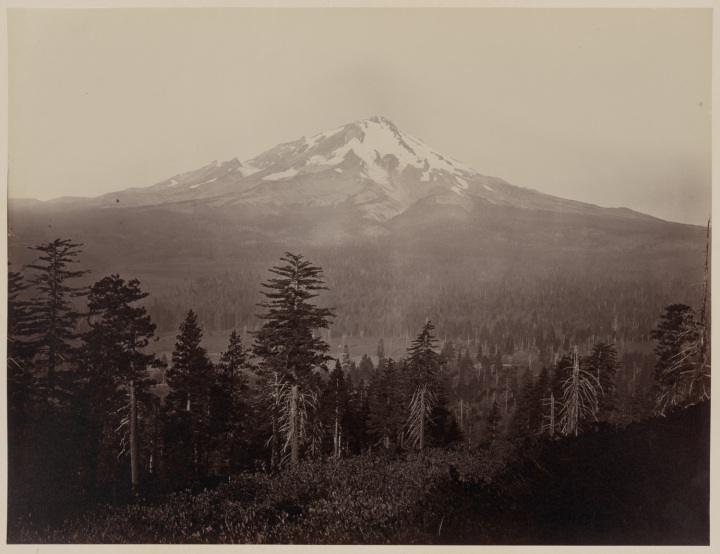 18 CEW, Mount Shasta, ca 1867-70, LOC. As in RWE's house. 1500