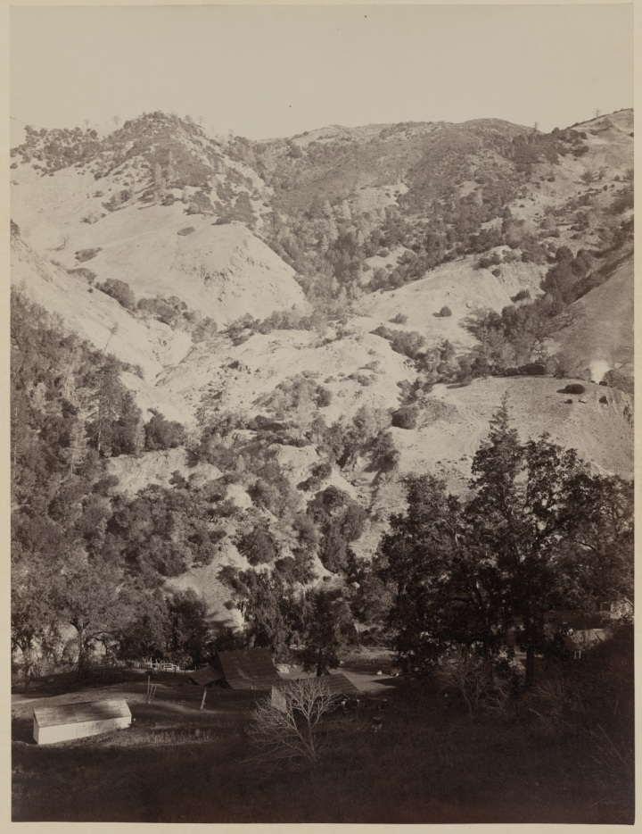 19 CEW, Geyser Canyon from the Hotel, The Geysers, Sonoma County, ca 1867, LOC 1200