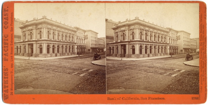 1a CEW, Bank of California, ca 1867-68, CSL 1500