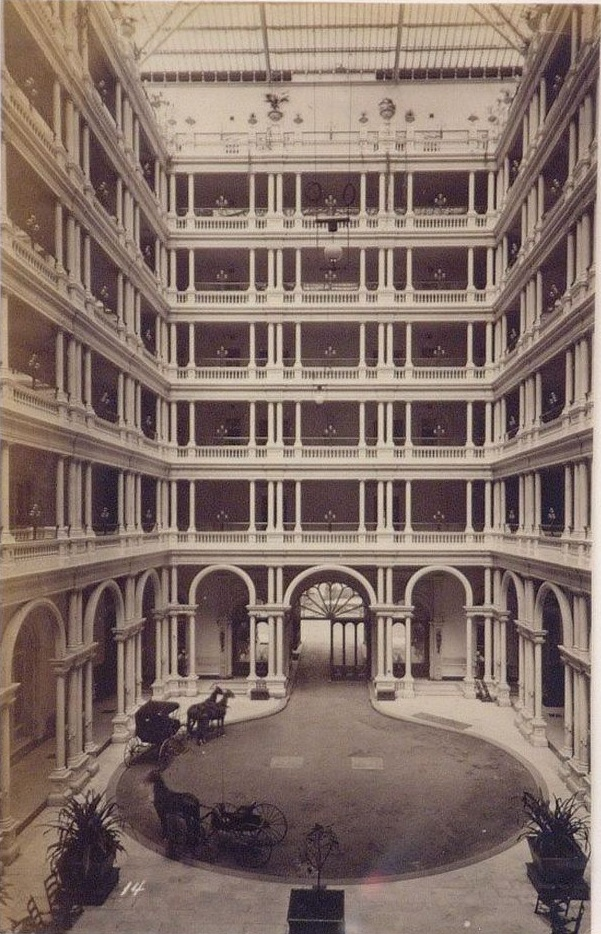 2 CEW, Interior Court with Open Balconies, Palace Hotel, SF, ca 1876, CCA, Montreal