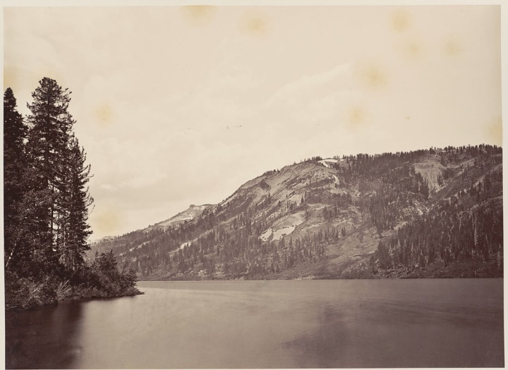 2 CEW, Mt. Lola from Independence Lake, 1879, BANC