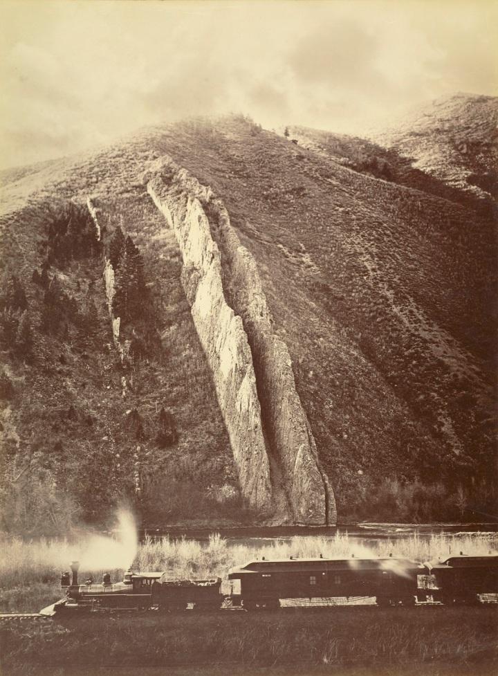 20 CEW, Devil's Slide, Weber Canyon, Utah Territory, 1873, JPGM 1100