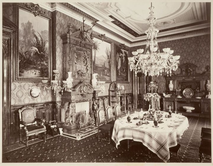21 CEW, Dining Room, Thurlow Lodge [Milton Latham's Residence], San Mateo County, 1874. Collection of the Canadian Centre for Architecture